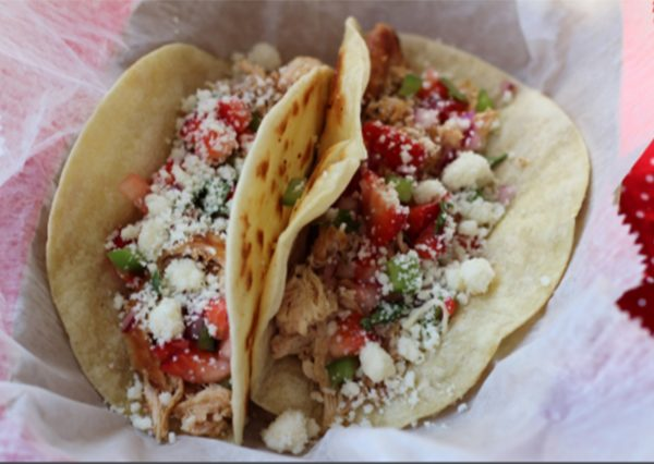 Smoked Strawberry Chicken Taco